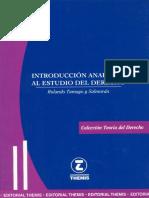 Tamayo y Salmorán R. 2008. Introducción Analítica Al Estudio Del Derecho. México. Themis.
