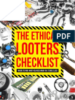 The Ethical Looters Checklist