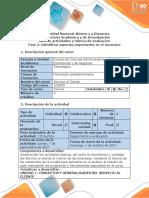Guía de Actividades y Rúbrica de Evaluación - Fase 2. Identificar Aspectos Importantes en El Escenario