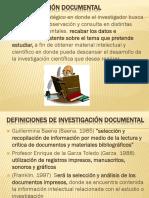 La Investigación Documental