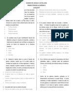 10ª- Examen de Lengua Castellana