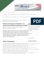 Devenir Réserviste _ La Préparation Militaire Gendarmerie (PMG) _ Www.gendarme-reserviste