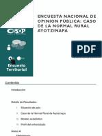 Encuesta Nacional de Opinion Publica Caso de La Normal de Ayotzinapa Vt (1)