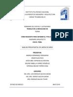 Análisis Presupuestal de Jardin de Niños Final