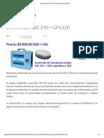 Ecosonda HD-370 + GPS X20 _ Geomex Topografía
