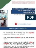 Validez y Confiabilidad Instrumentos 30 Noviembre 2013
