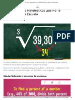 11 Útiles Trucos Matemáticos Que No Te Enseñaron en La Escuela - Buena Mente