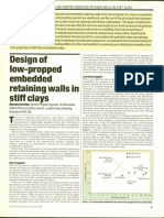 Embedded retaiing wall design