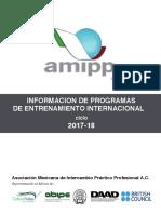 Información Programas Amipp 2017-2018