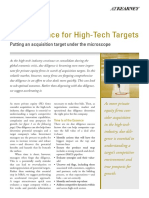 I. Pre-merger Insights - 3 Due Diligence for High-Tech Targets