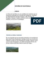 Montañas de Guatemala