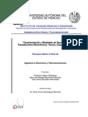De Sensores pdf Caracterizacion Y Modelado EDH9W2eIY