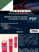 MANIPULACION DE ACCESORIOS DE VOLADURA Y EXPLOSIVOS.pptx