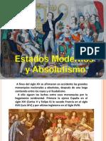 Estado Moderno y Absolutismo