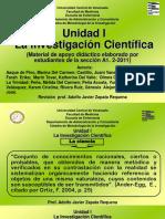 Unidad I. El Proceso de Investigación
