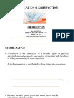 Sterilization & Disinfection Lect 2