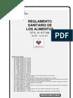 REGLAMENTO SANITARIO DE LOS ALIMENTOS R.S.A (actualizado 2010)
