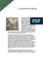 La Esclavitud en Roma