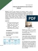PROPIEDADES ORGANOLEPTICAS DEL AGUA RESIDUAL