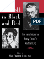 Samuel Beckett Beckett in Black and Red the Translations for Nancy Cunards Negro