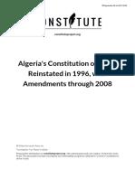 Constitución de Argelia