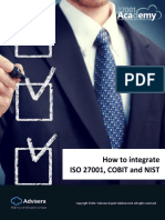 How to Integrate ISO 27001 COBIT and NIST En