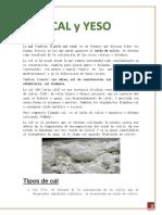 CAL y YESO.informe