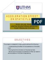 4 Effect of Acceleration on Static Fluid