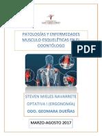 Patologias musculo esqueléticas