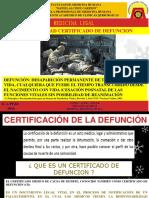Certificado de Defunción Dr. Lesma