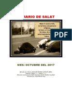 Horarios de Salats OCTUBRE 2017 Ecuador