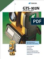 Spesifikasi Detail & Jual Total Station Topcon GTS-102N (081297551995)