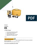 Rina Wahyuni - Jual Spesifikasi Detail total station Topcon ES 103 @081297551995