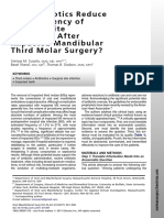 Do Antibiotics Reduce the Frequency of Surgical Site Infections After Impacted Mandibular Third Molar Surgery
