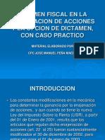 Material de Dictamen en La Enajenacion de Accones 2015