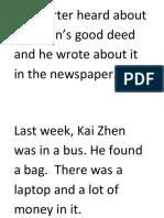 A reporter heard about Kai Zhen.docx