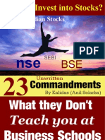 Trading Stocks and Indices - 23 Commandments