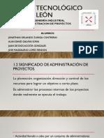 1.2 Sig e Imp de La Administracion de Proyectos