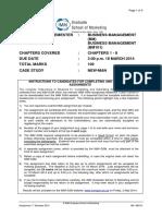 BM101 - Assign Q - 1-2014 - Business Management 1