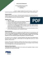 pma scholarship application