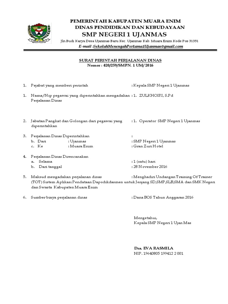 Surat Perjalanan Dinas