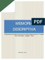 Memoria Descriptiva Iglesia