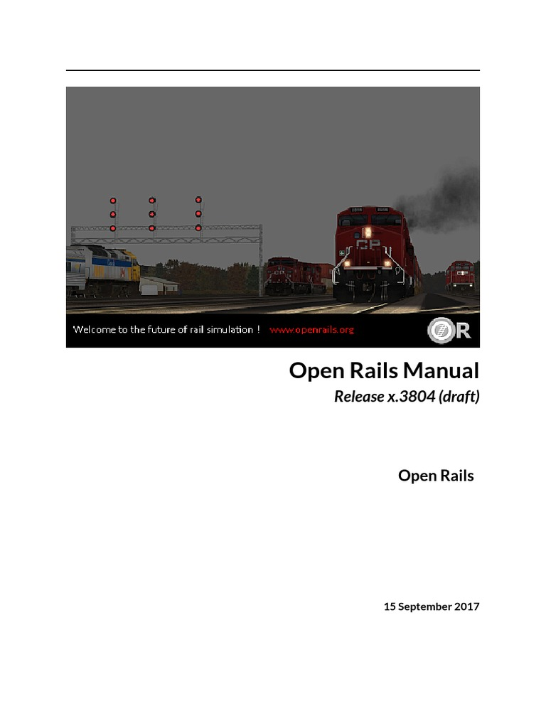 OpenRails Testing Manual | Rail Transport | Vehicles