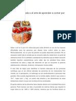 Dieta Balanceada o El Arte de Aprender a Comer Por Porciones