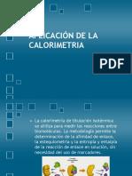 Aplicación de La Calorimetria