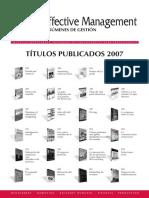 Resumenes Libros 2007 Effective Management