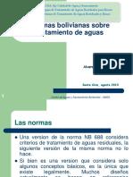 Normas Bolivianas Sobre Tratamiento de Aguas AMG