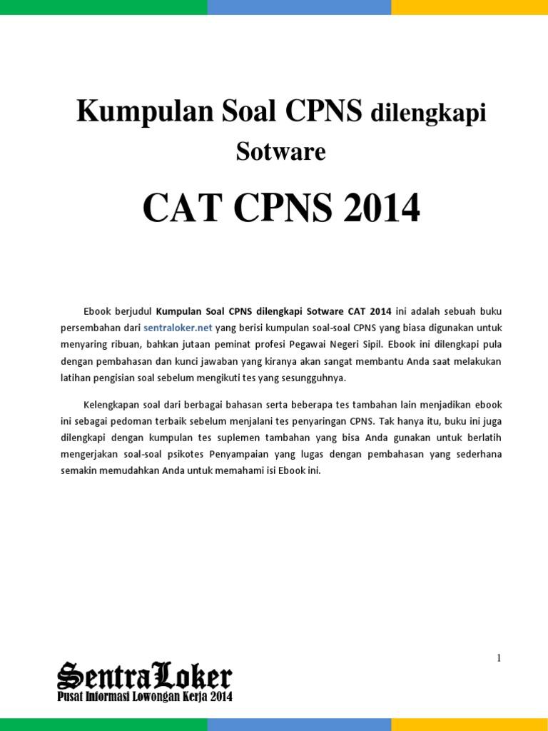 Cat Cpns 2014