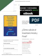 ¿Cómo Calculo El Inventario Inicial y Final_ – Gerencia Retail