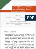 Putusan Mk No. 111 Puu-xiii2015